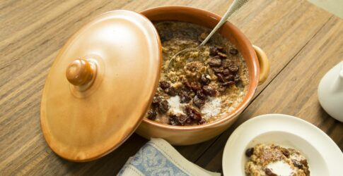 Baked Oatmeal with Dried Cherries & Maple Syrup