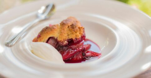 Blackberry and Dried Apricot with Buttermilk Biscuit Topping