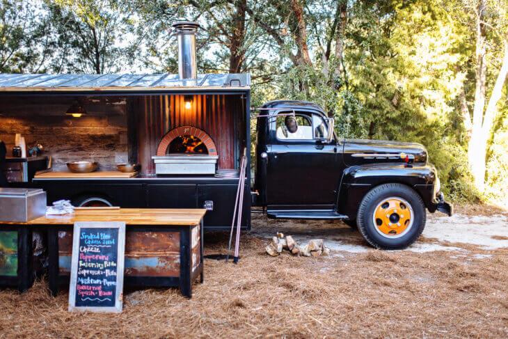 Mugnaini oven on Coastal Crust trailer