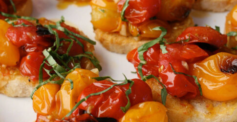 Crostini with Roasted Cherry Tomatoes