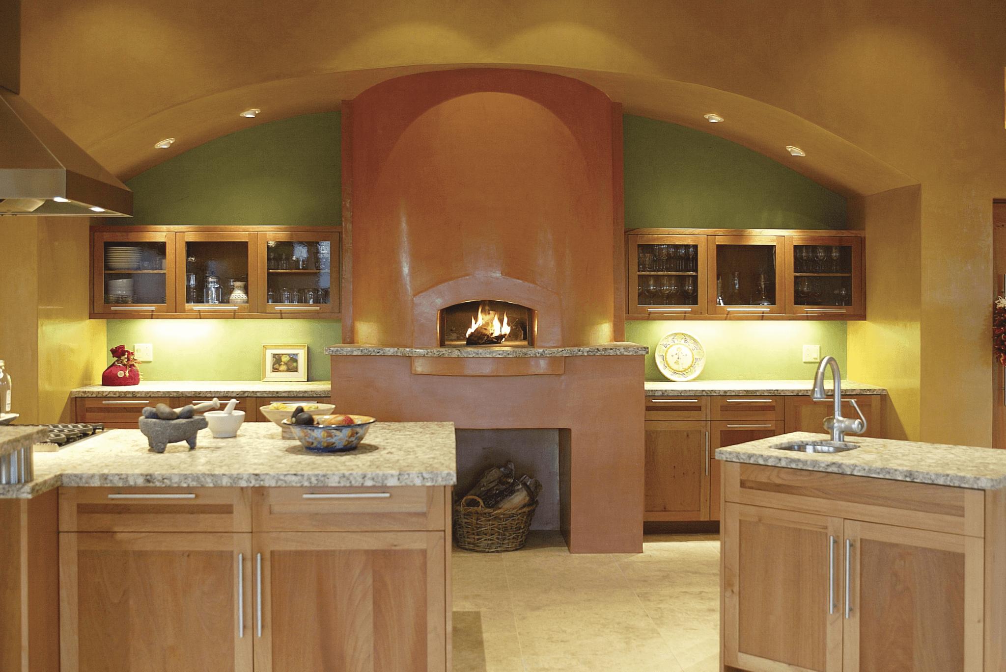 Mugnaini Medio oven in a residential kitchen