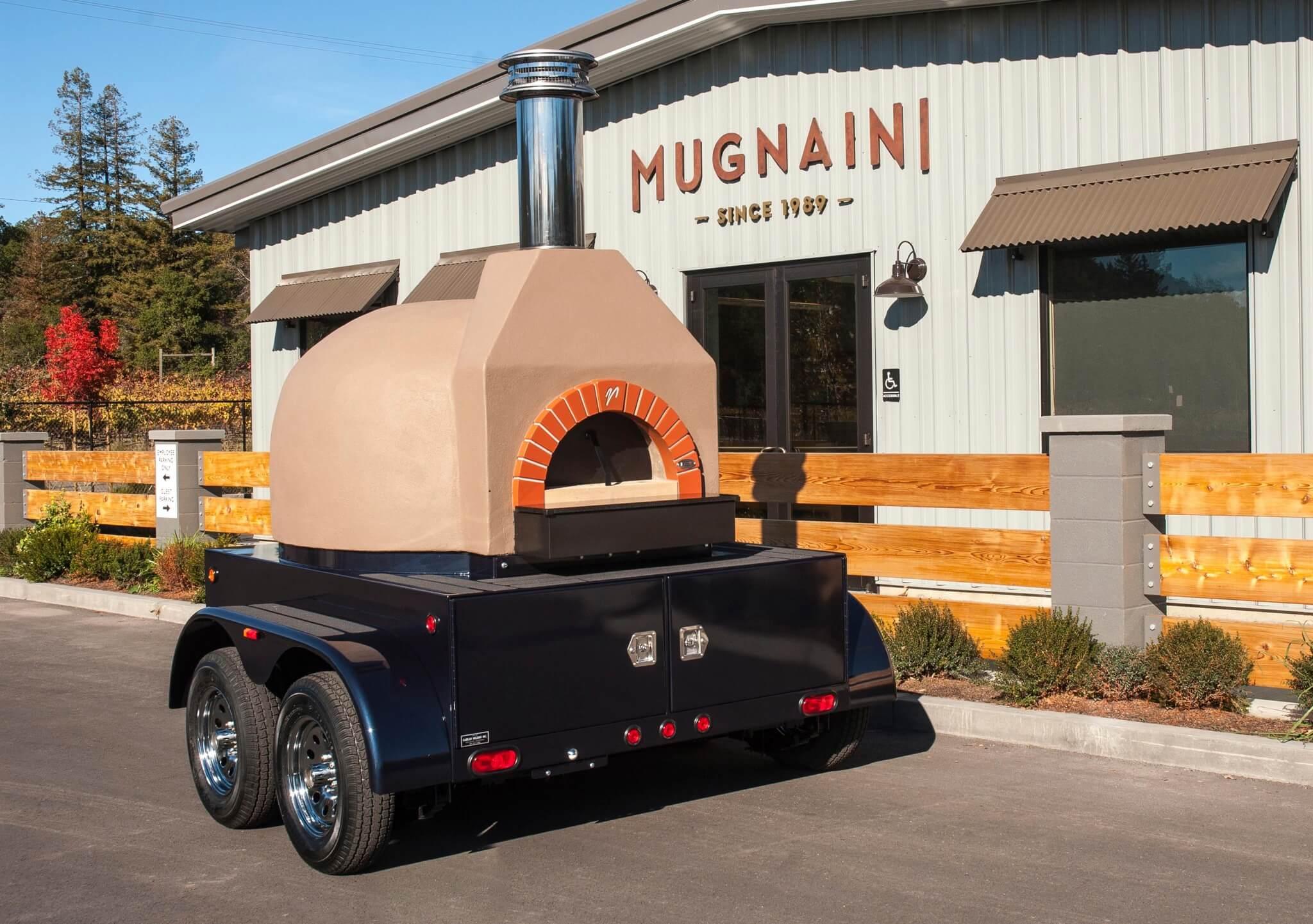 Mugnaini oven on trailer