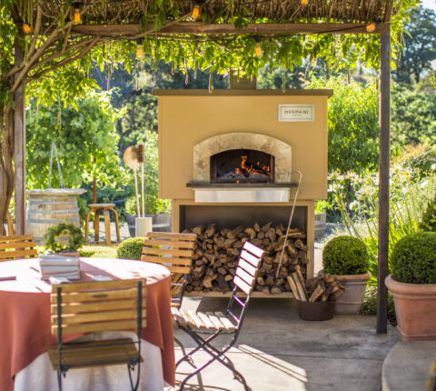 Mugnaini oven on outdoor patio