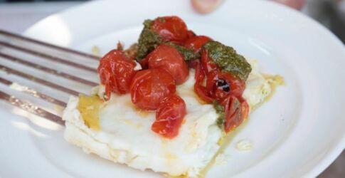 Roasted Halibut Ligurian Style