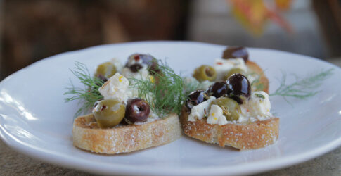 Baked Feta Cheese with Olives