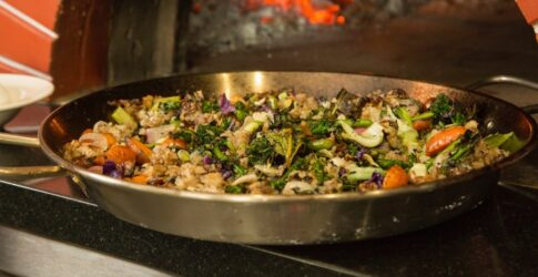 Fried Rice cooking in a pan