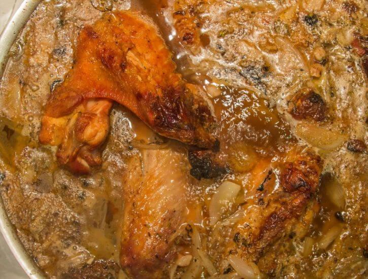 Turkey Gravy prep