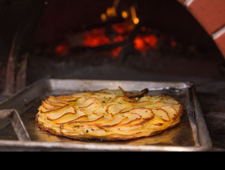 Duck Fat Potato Galette with Caraway and Sweet Onions