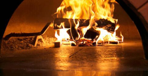 Fire in Mugnaini oven