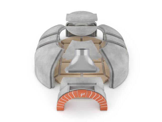 Mugnaini Model 160 x 140 Masonry Kit