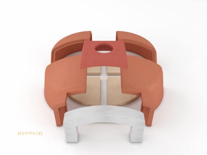 Mugnaini Medio 110 Masonry Kit
