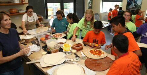 Boys & Girls Club bake pizza at Mugnaini