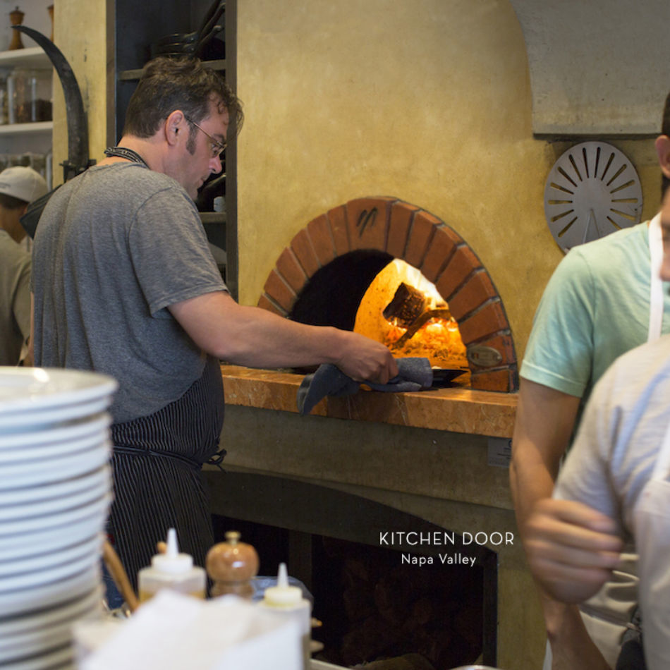 Mugnaini oven at Kitchen Door, Napa