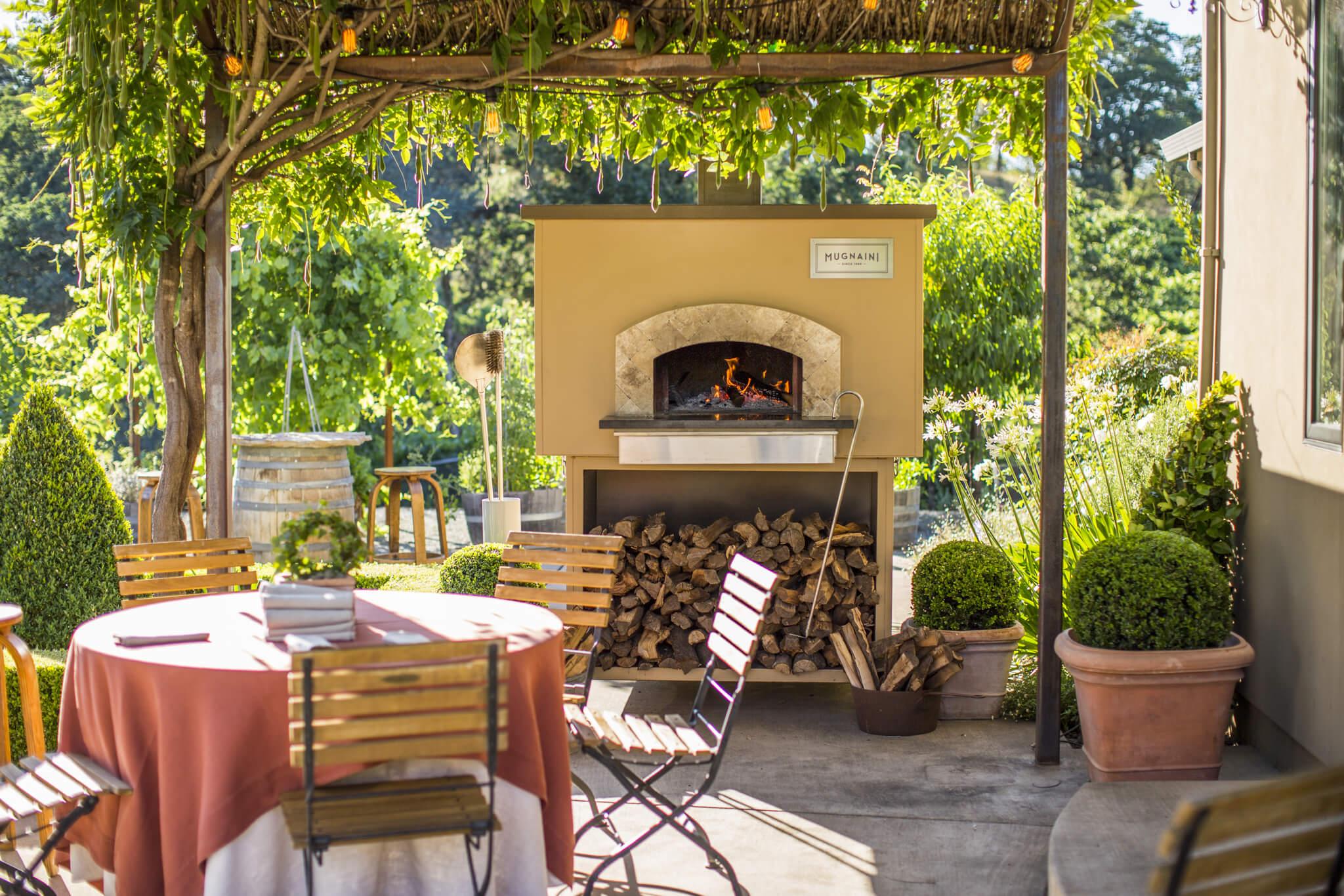 Mugnaini wood fired oven, outdoor