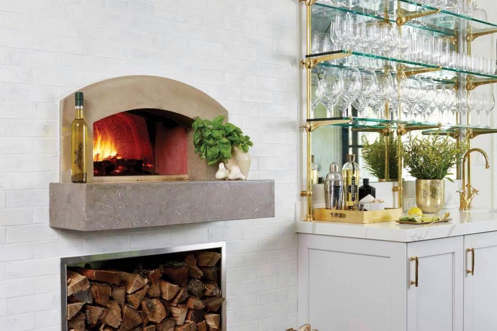 Built in Mugnaini wood fired oven