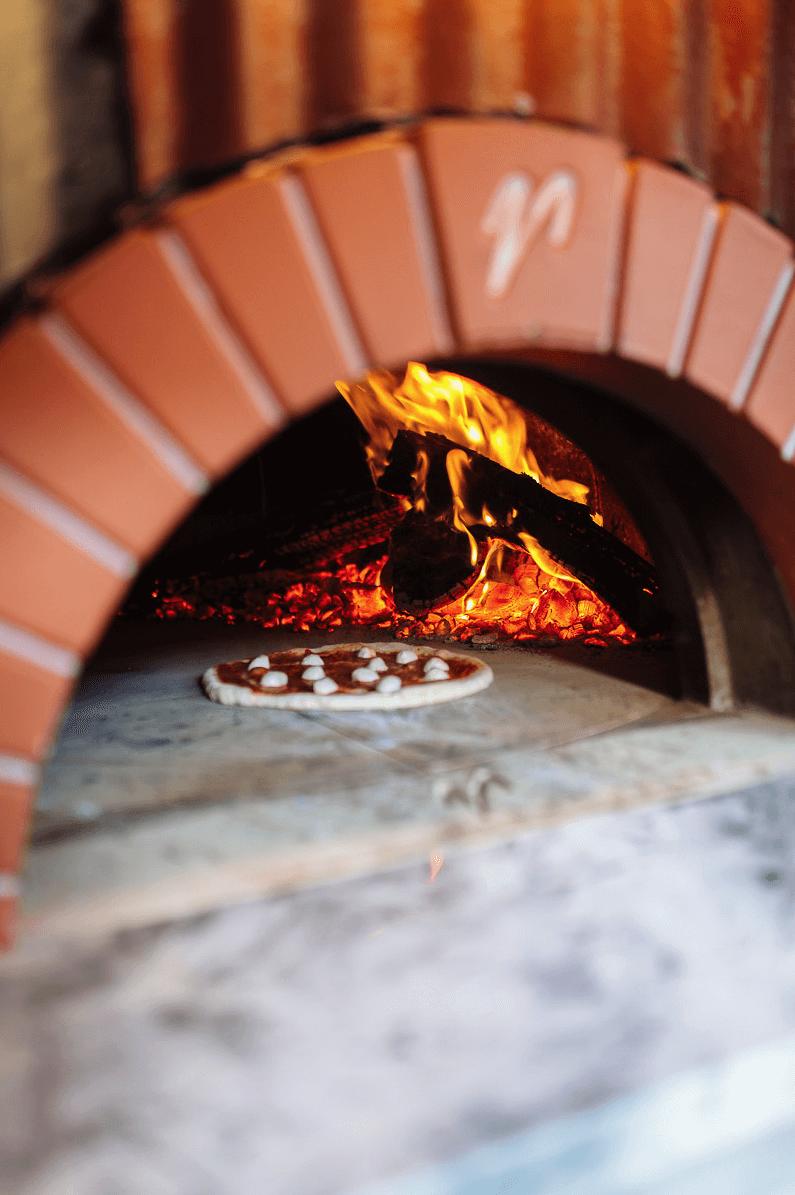Pizza in Mugnaini oven