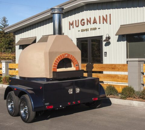 Portable Mugnaini oven at Mugnaini