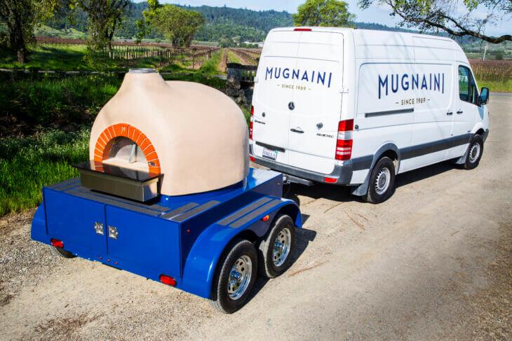 Portable Mugnaini wood fired oven