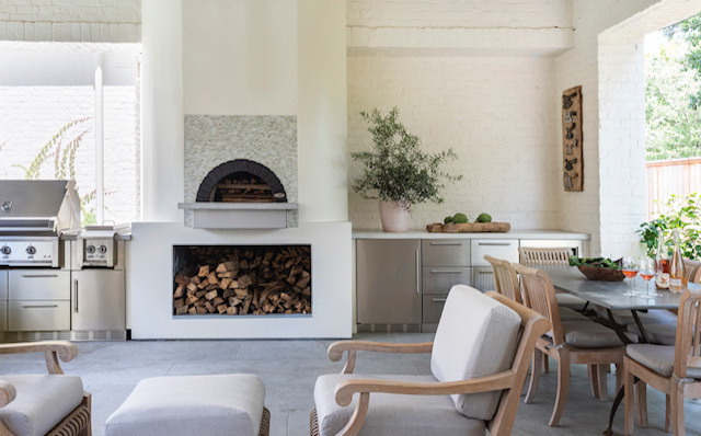 Mugnaini wood fired oven in a residence