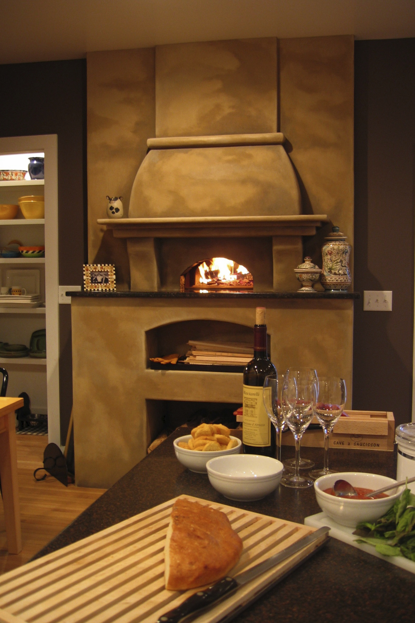 Mugnaini oven in a residential setting