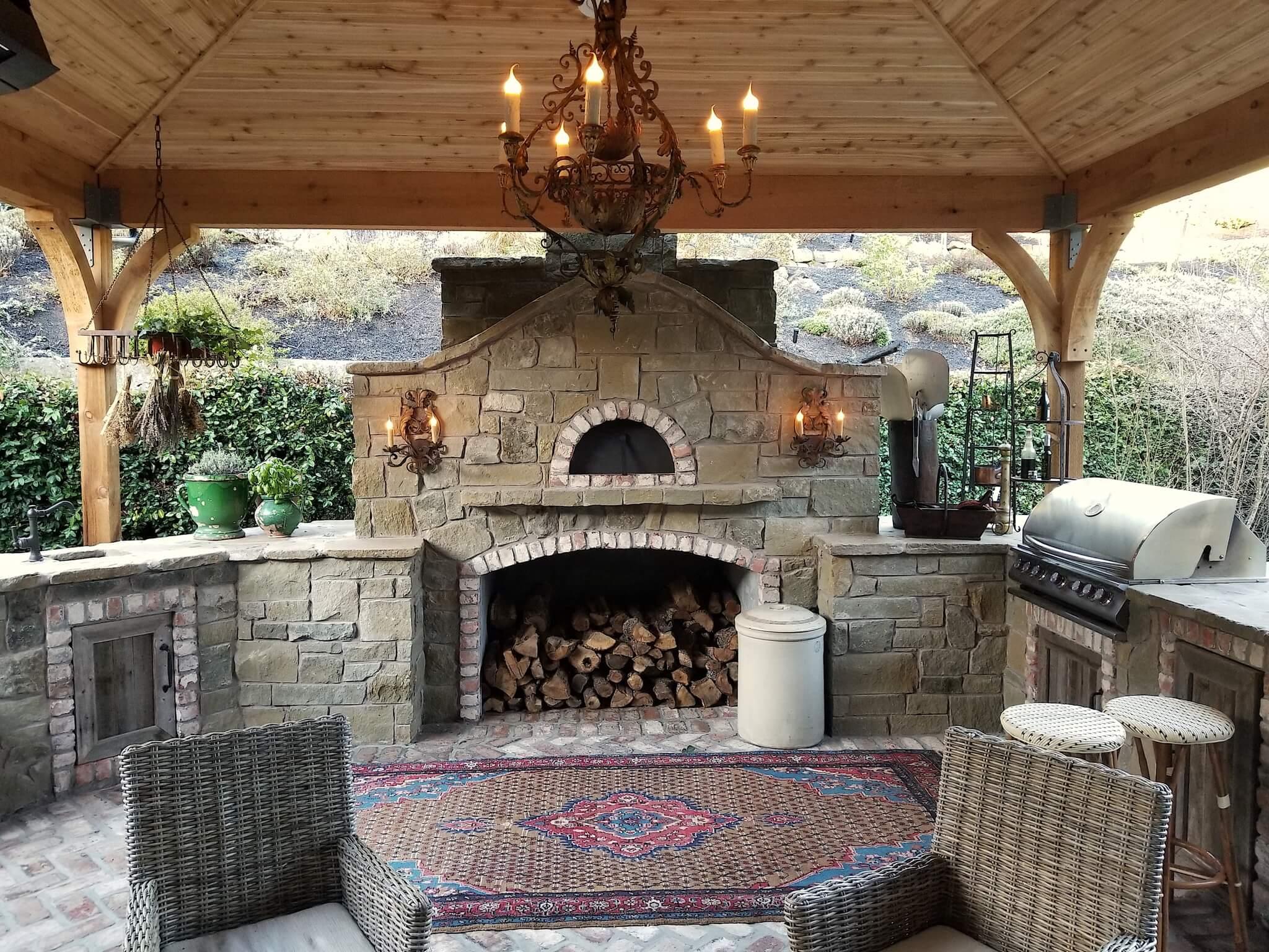 Mugnaini oven in an outdoor setting