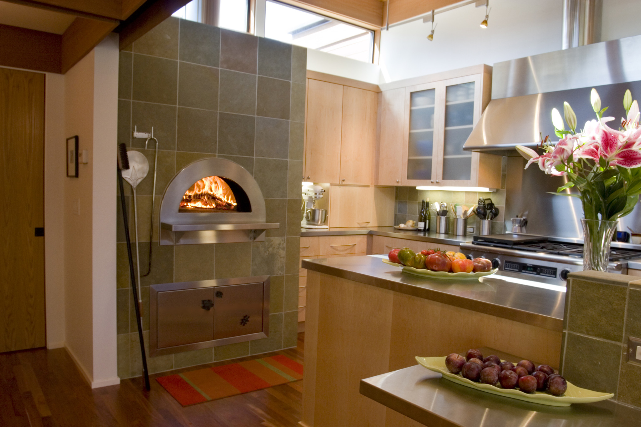 Mugnaini oven in a residential kitchen