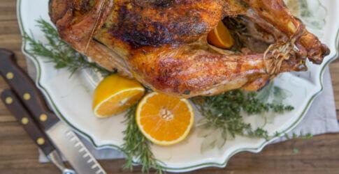 Turkey cooked in Mugnaini oven
