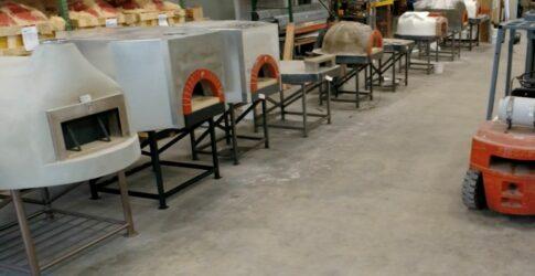 Mugnaini ovens in warehouse