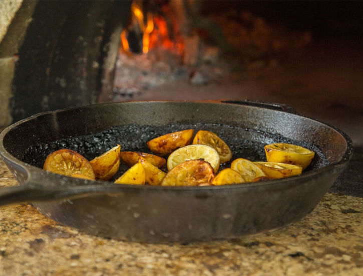 Roasted lemons with a Mugnaini wood fired oven