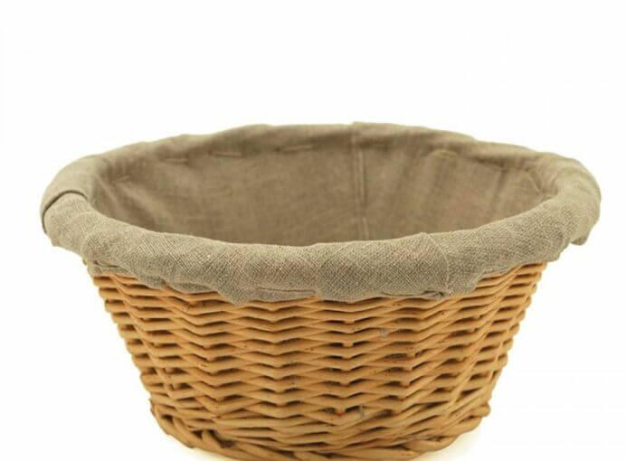 """Bread Basket, Banneton, Linen Lined, 9.5""""x3.75"""""""