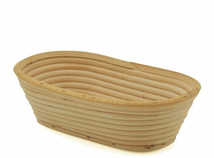 "Bread Basket, Banneton, Willow Oval, 9.5""x6""x2.25"""