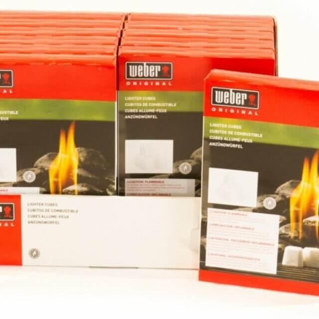 Weber Firestarters Case (12 Boxes of 24 Cubes Each)